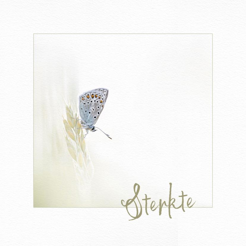 Sterkte kaarten - Sterktekaart vlinder op grashalm
