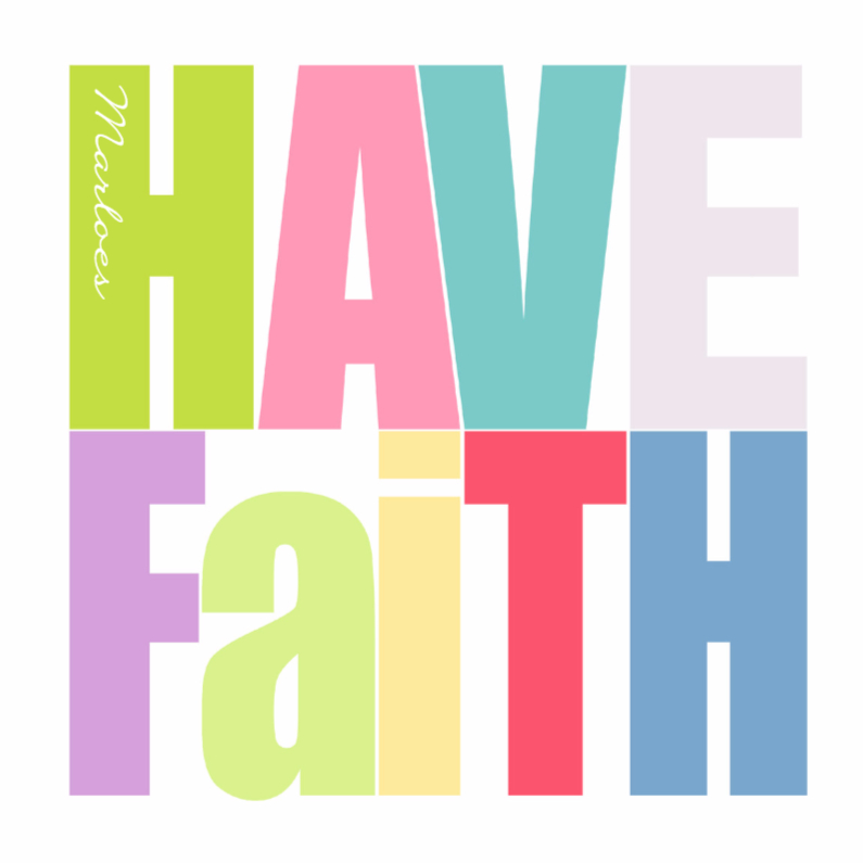 Sterkte kaarten - Woorden Have Faith -BK