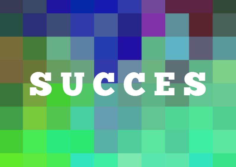 Succes kaarten - EIGEN TEKST op kleuren