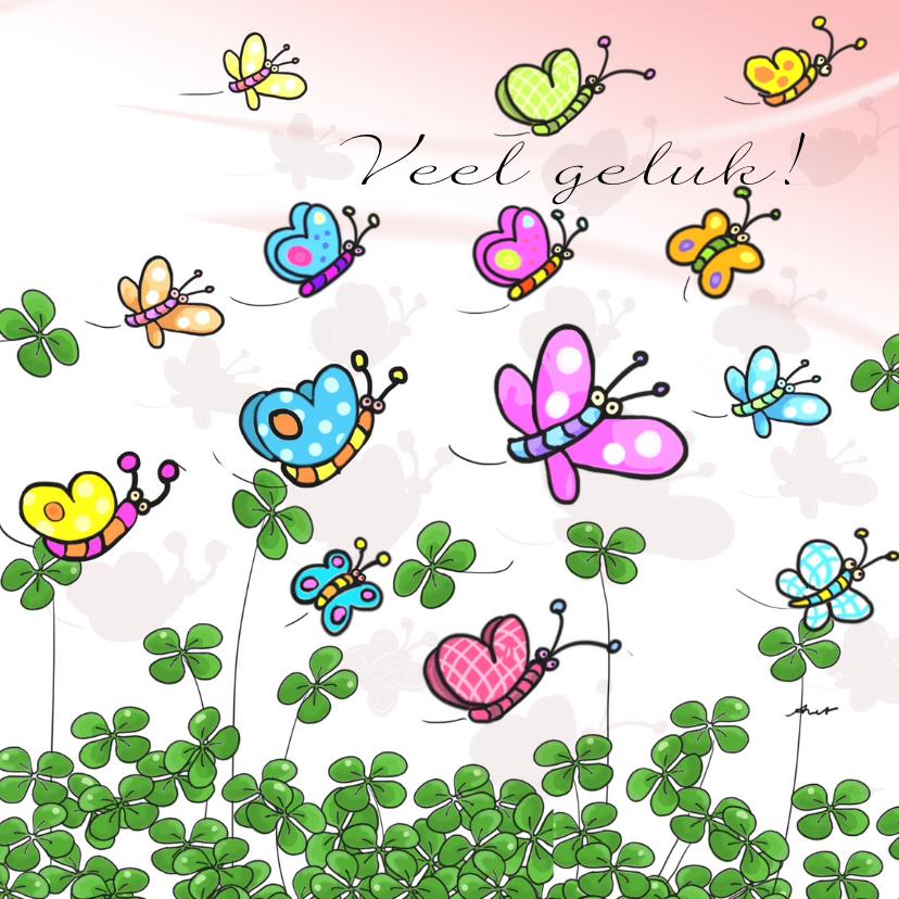 Succes kaarten - Klaver en vlinder