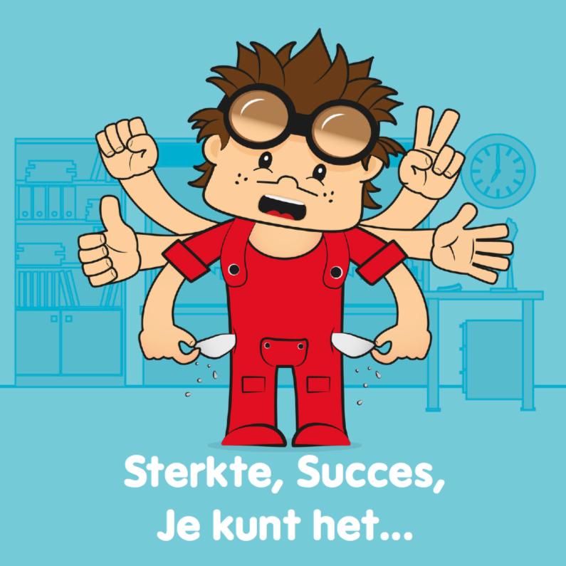 Succes kaarten - Sterkte opkikker succes geluk 25
