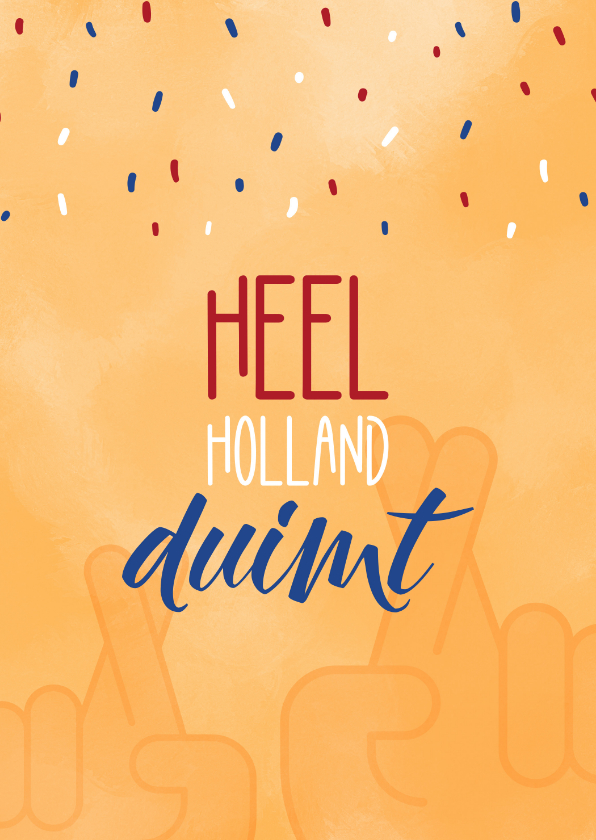 Succes kaarten - Succes Heel Holland duimt