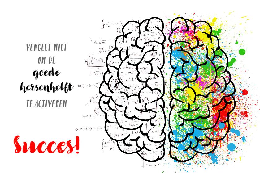 Succes kaarten - succes hersenen aan het werk