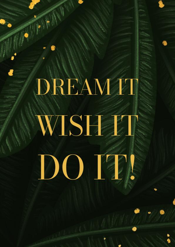 Succes kaarten - Succes  jungle bladeren met quote