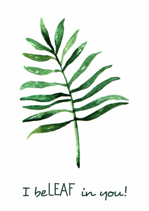 "Succes kaarten - Succes kaart ""Leaf"" - WW"