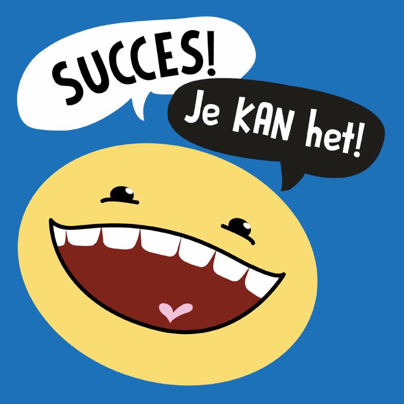 Succes kaarten - Succes kaart Smiley