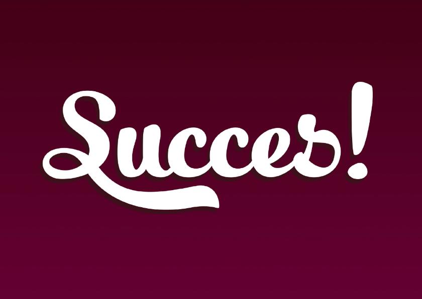 Succes kaarten - Succes kaart typografisch