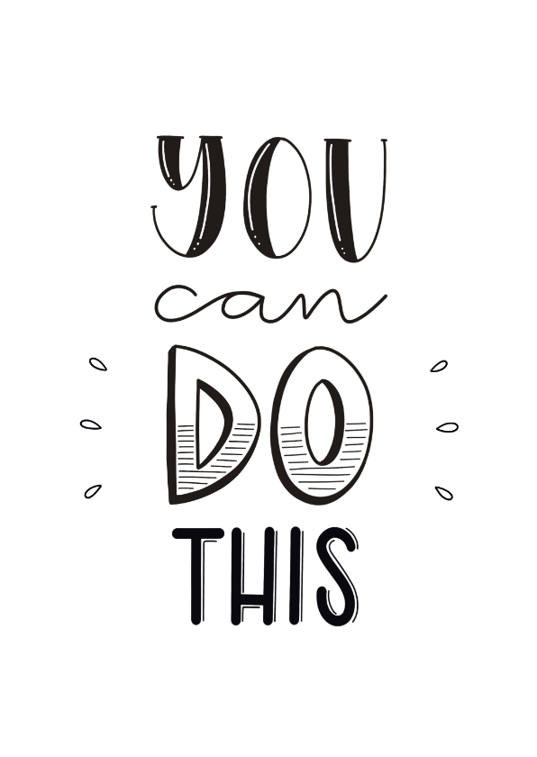 Succes kaarten - Succes kaart - You can do this