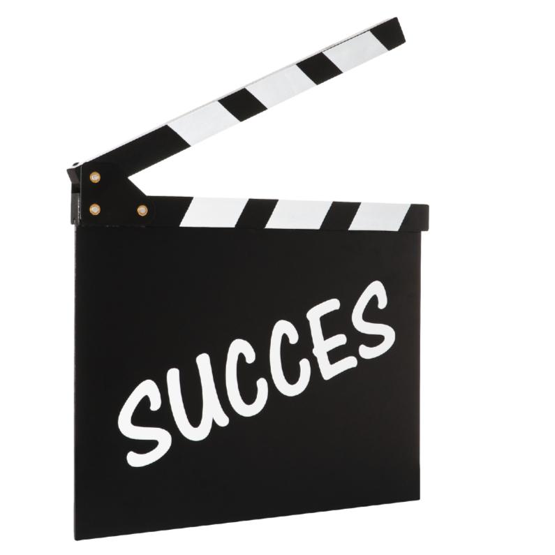 Succes kaarten - SUCCES op filmklapper