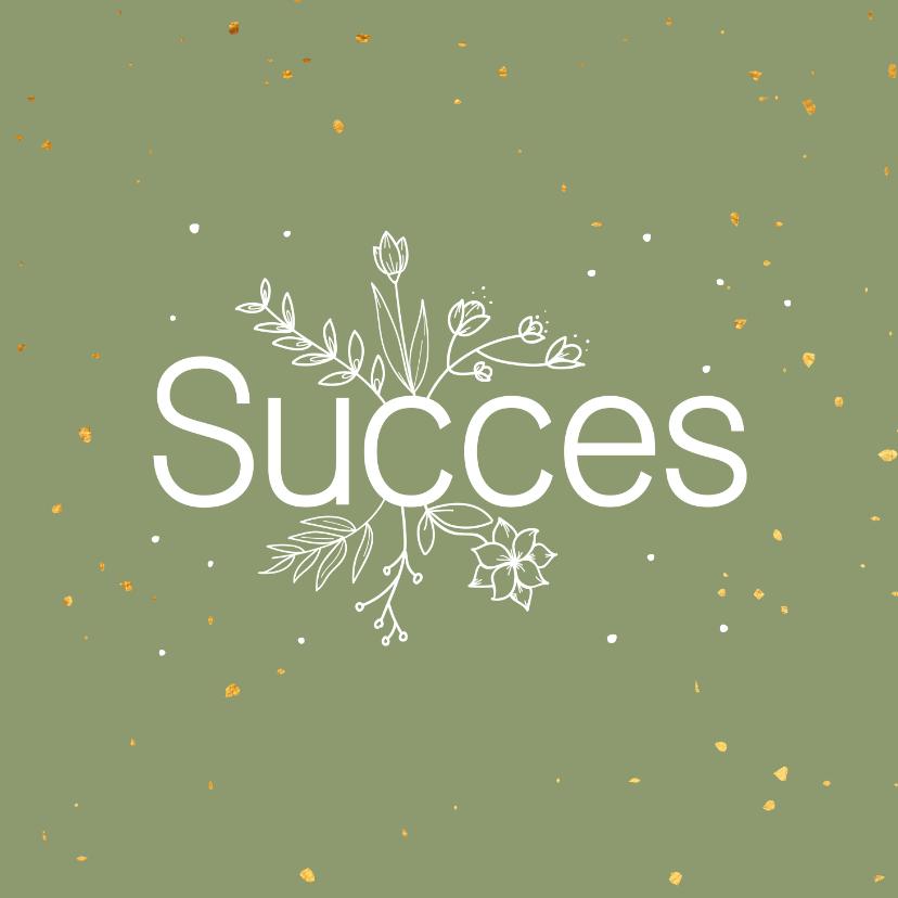 Succes kaarten - Succeskaart - flowers