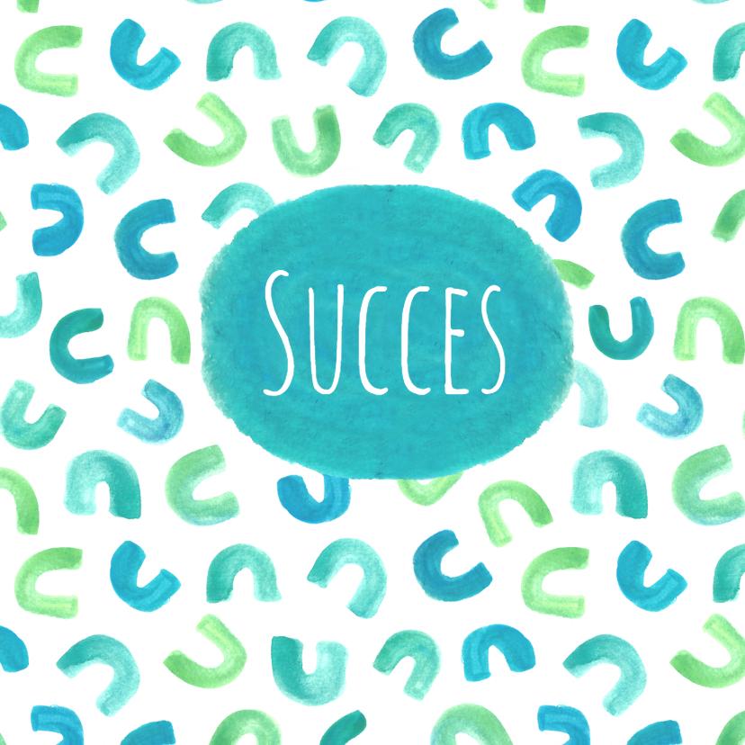 Succes kaarten - Succeskaart patroon hoefijzers