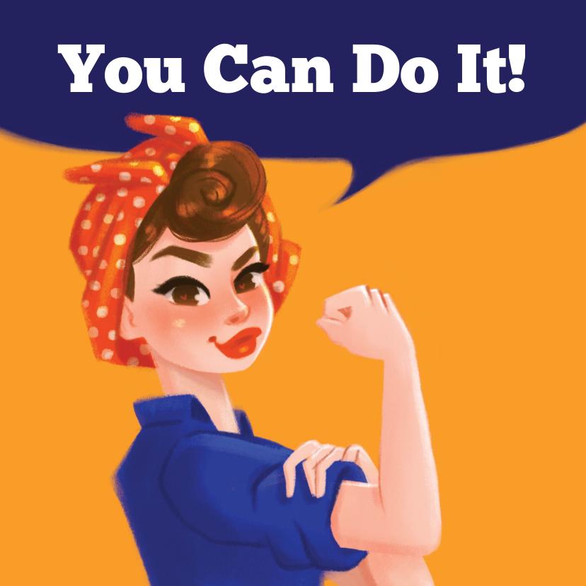 Succes kaarten - Succeskaart You Can Do It!