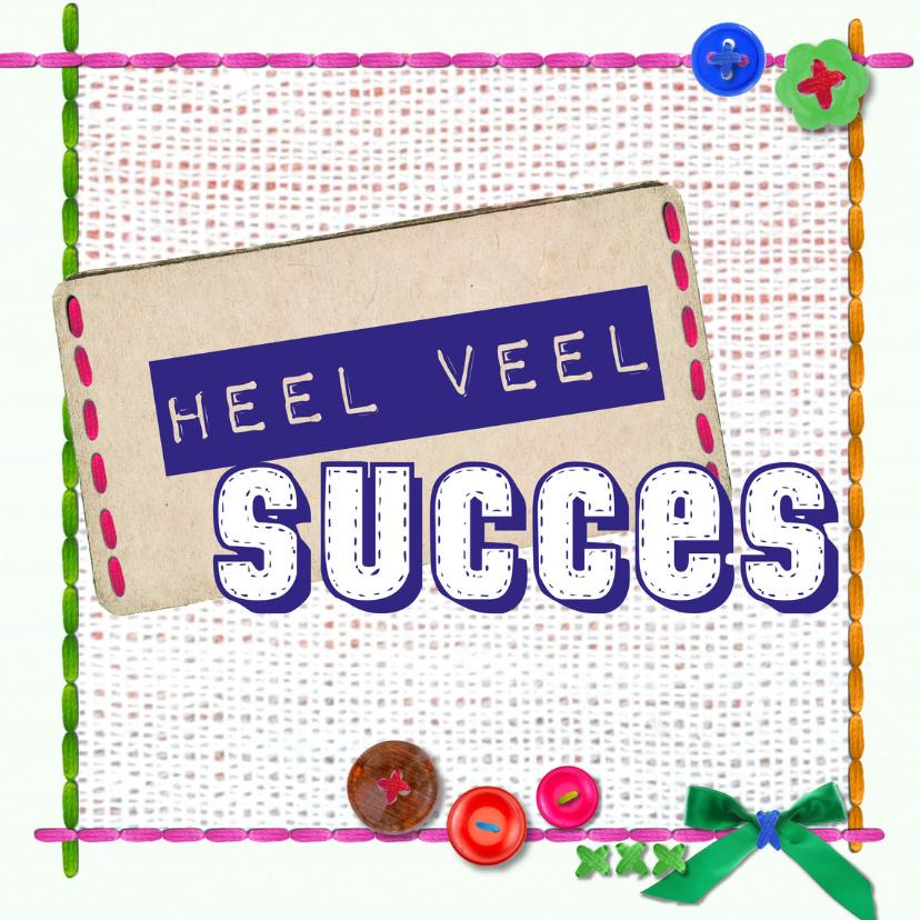 Succes kaarten - veel succes -BF