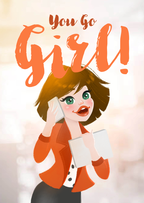 Succes kaarten - Working Girl - KO