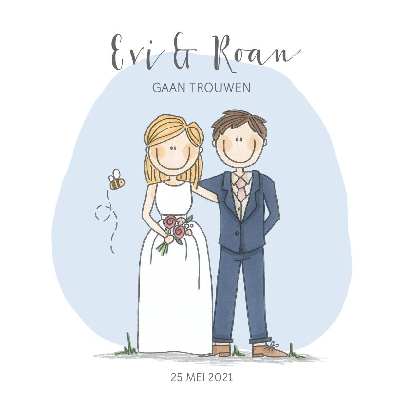 Trouwkaarten - Evi & Roan gaan trouwen