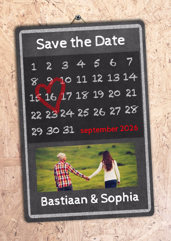 Trouwkaarten - Kalender OSB Save the Date - BK