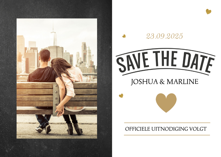 Trouwkaarten - Kerst Save the date kaart