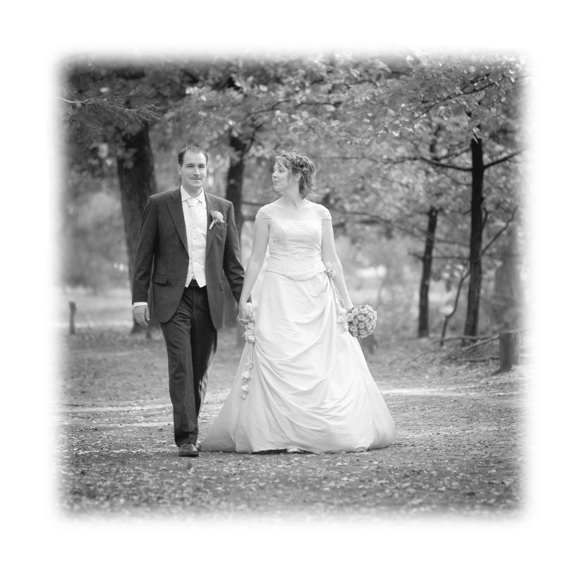 Trouwkaarten - Klassiek bedankkaart huwelijk - LO