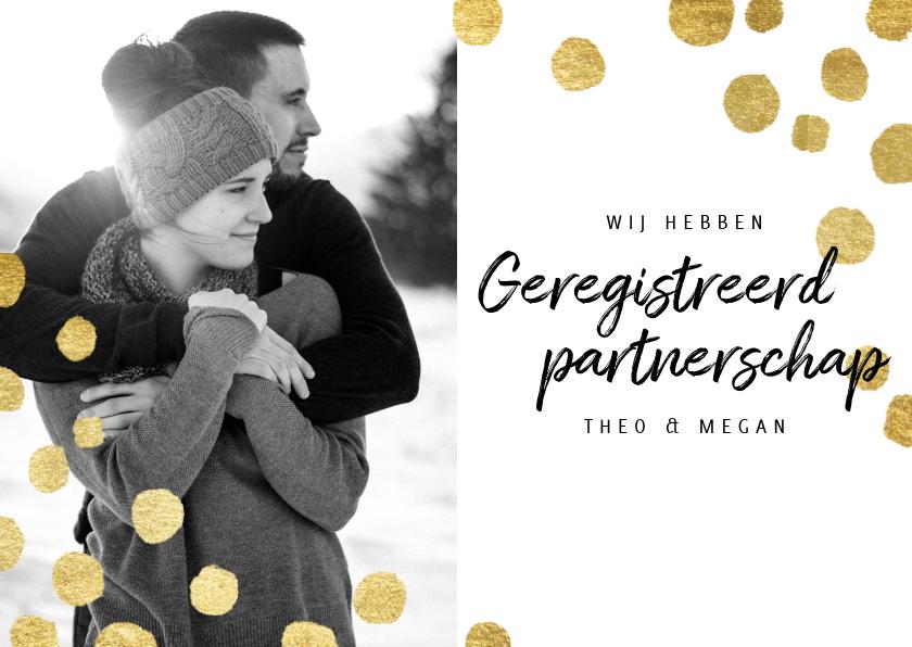 Trouwkaarten - Moderne trouwkaart geregistreerd partnerschap