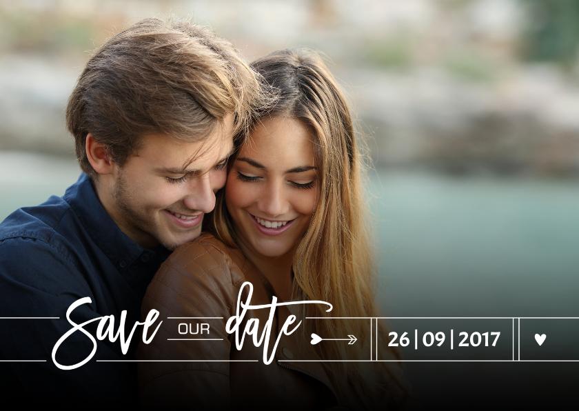 Trouwkaarten - Save our date grafisch