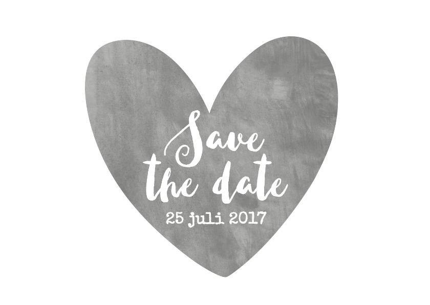 Trouwkaarten - Save The Date aquarel grijs