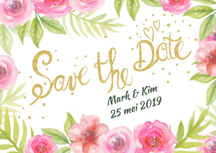 Trouwkaarten - Save The Date aquarel