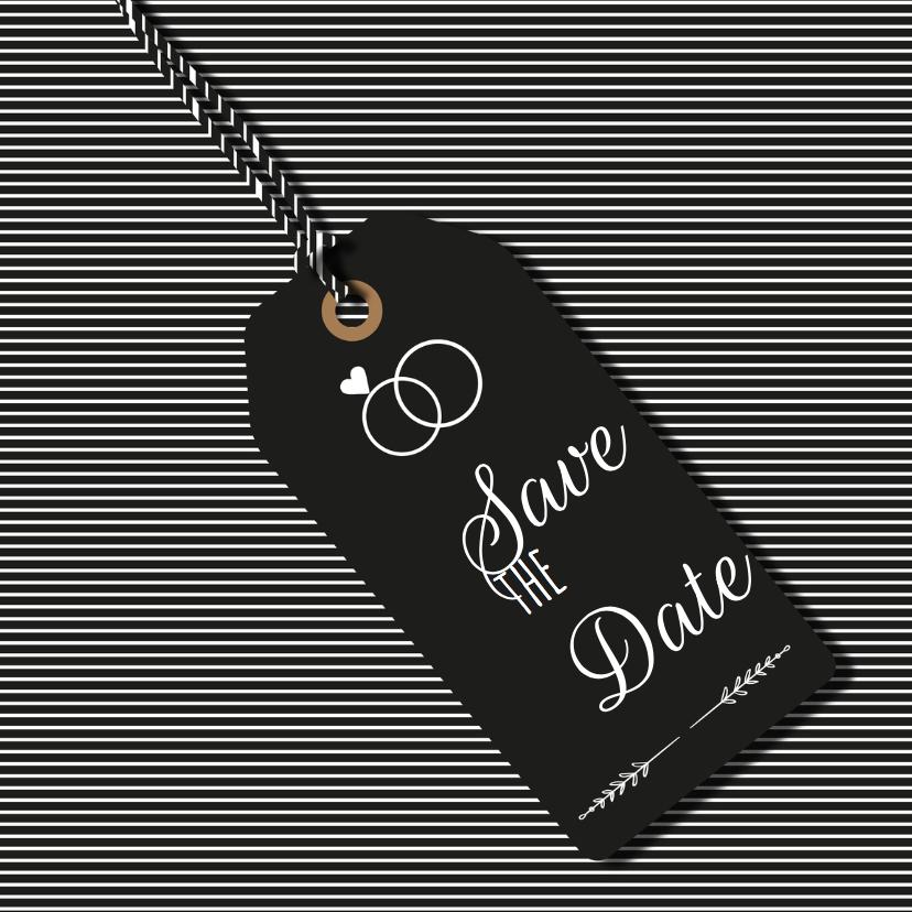Trouwkaarten - Save the Date Labeltje