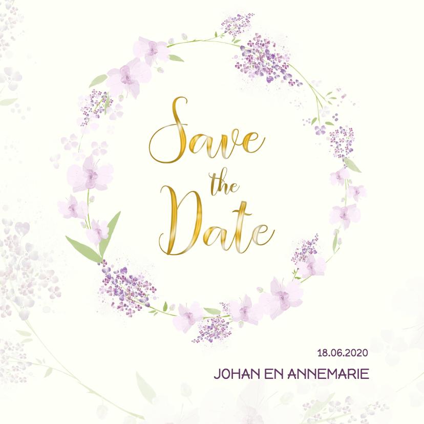 Trouwkaarten - Save the date orchidee