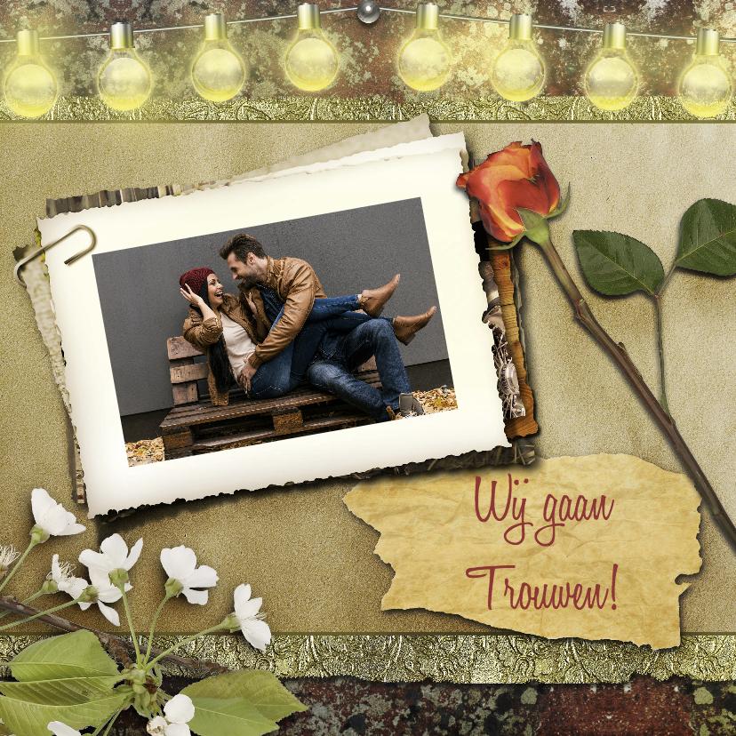 Trouwkaarten - Trouwkaart charme RB 1
