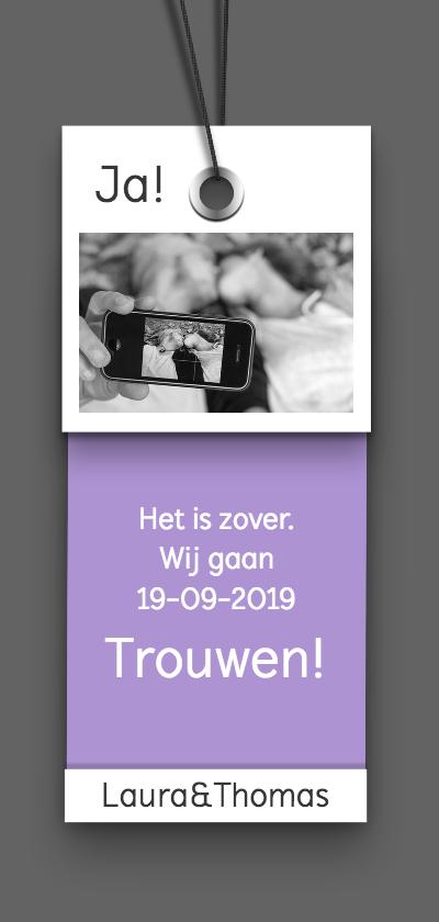 Trouwkaarten - Trouwkaart label A RB