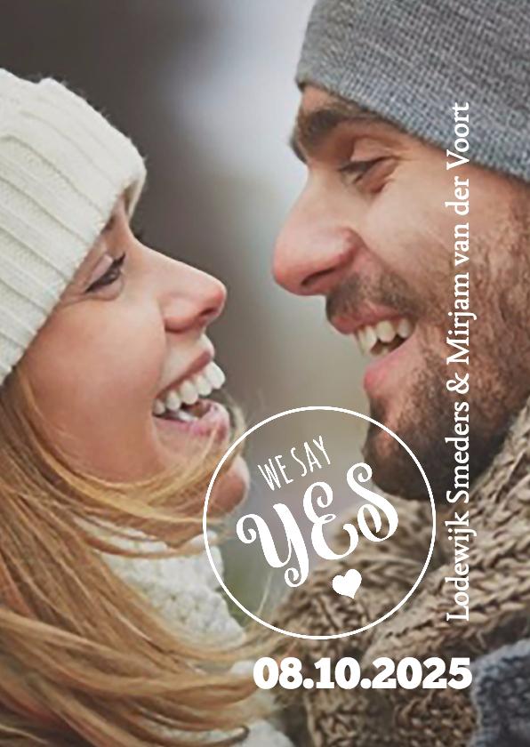 Trouwkaarten - We say yes trouwkaart