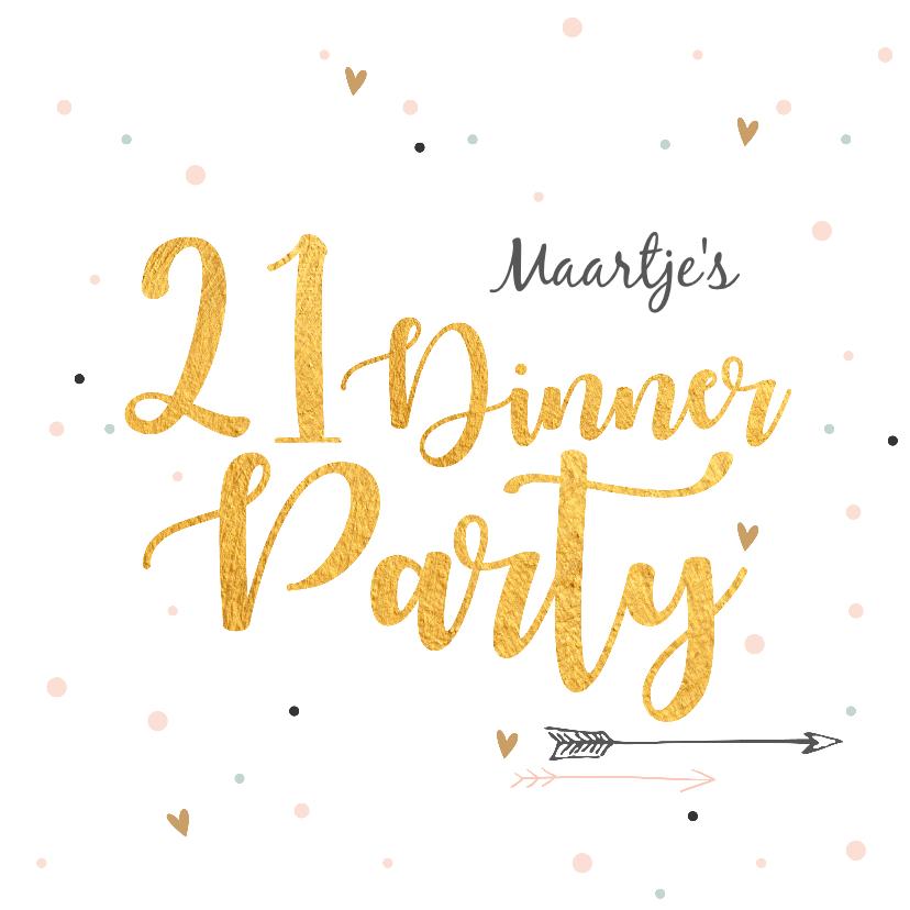 Uitnodigingen - 21 Diner party