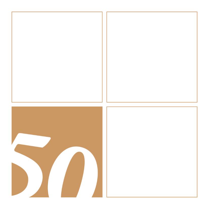 Uitnodigingen - 50 jaar uitnodiging blokken