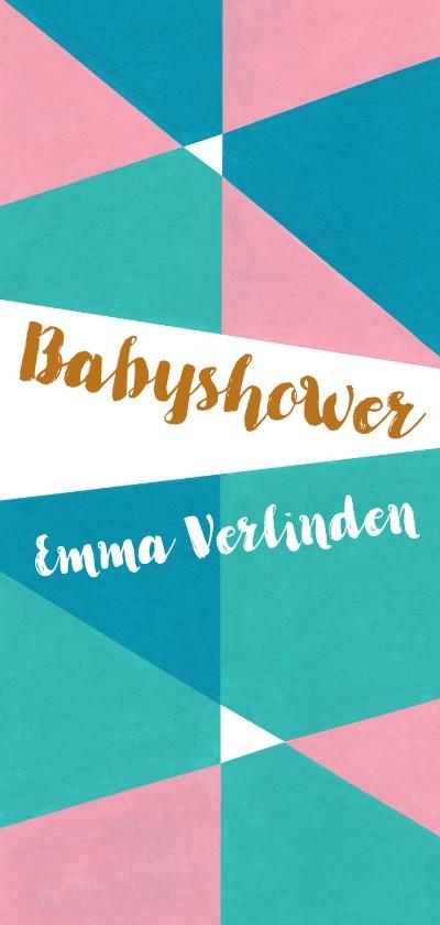 Uitnodigingen - Babyshower pastel geometrisch - sk
