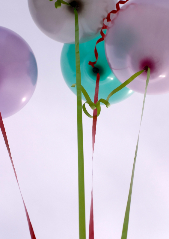 Uitnodigingen - Ballonnen in de lucht
