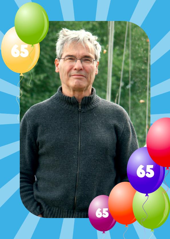 Uitnodigingen - Ballonnenkader 65 jaar