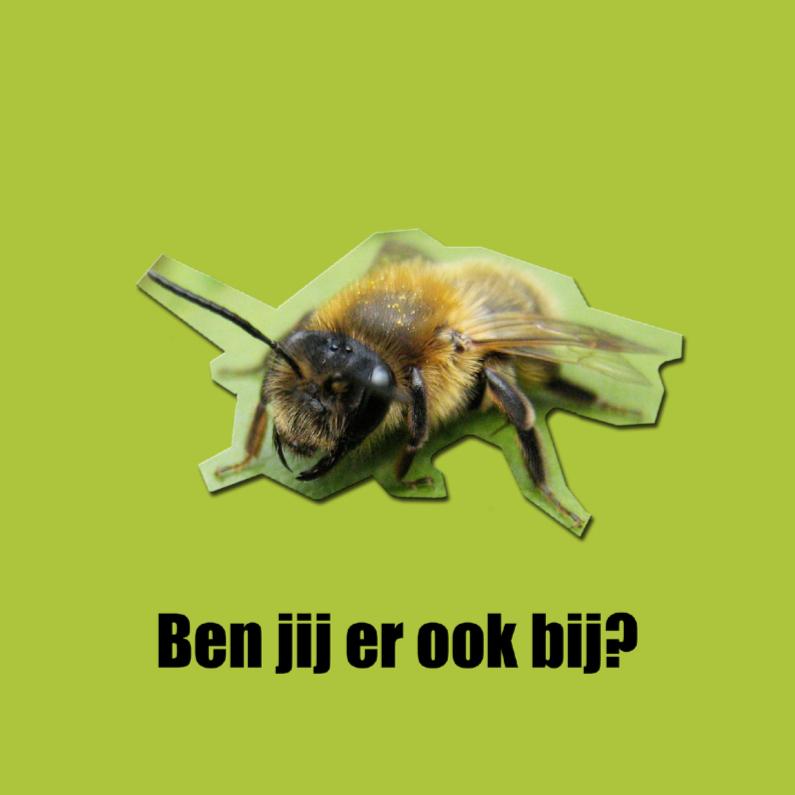 Uitnodigingen - Bijenkaart