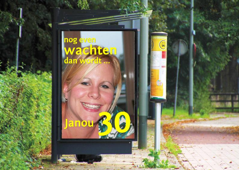 Uitnodigingen - billboard bushokje liggend