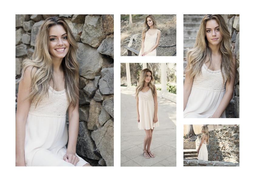 Uitnodigingen - Collage Uitnodiging met 5 foto's