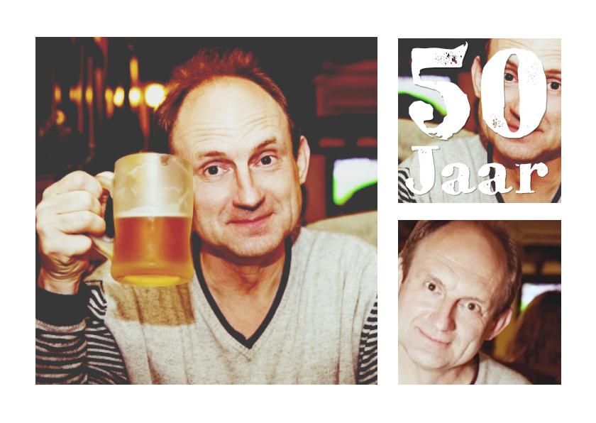 Uitnodigingen - Collage Verjaardag 50 jaar - BK