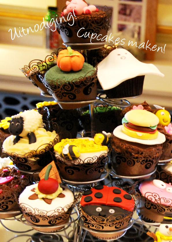 Uitnodigingen - Cupcakes maken