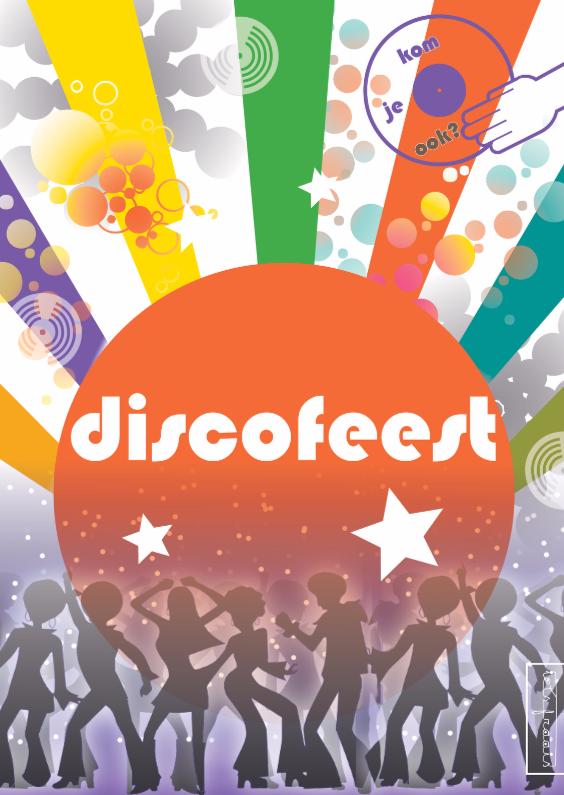 Uitnodigingen - Discofeest - disco retro