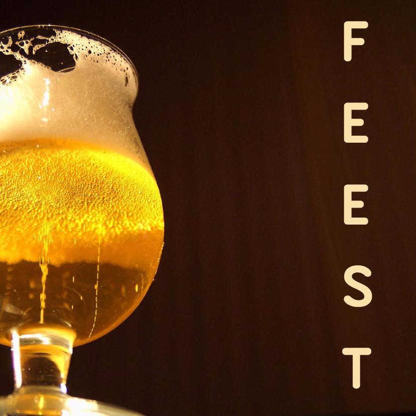 Uitnodigingen - Feest kaart bier