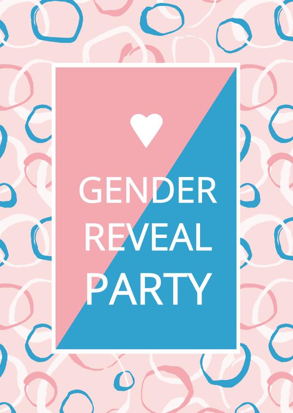 Uitnodigingen - Gender Reveal uitnodiging