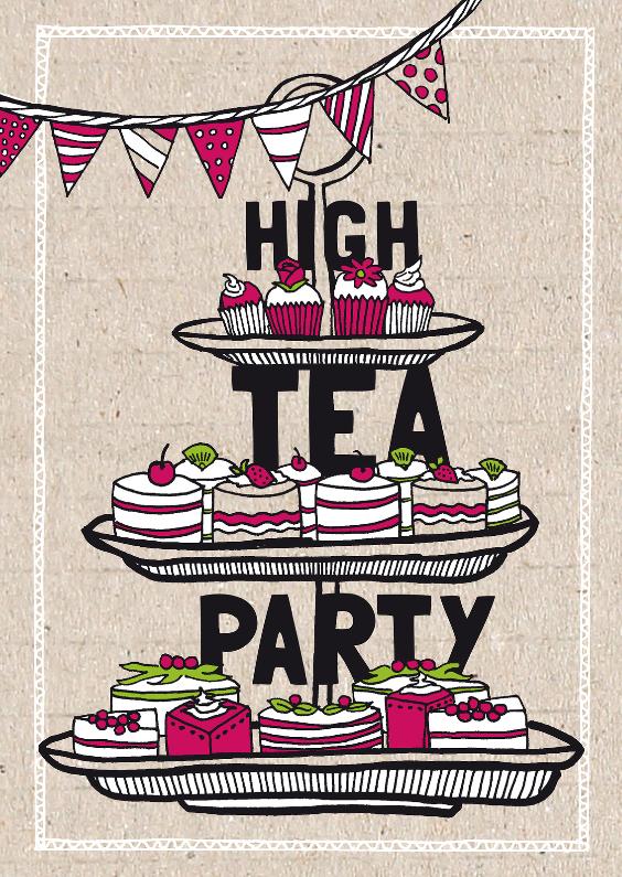 high tea party uitnodiging - uitnodigingen | kaartje2go