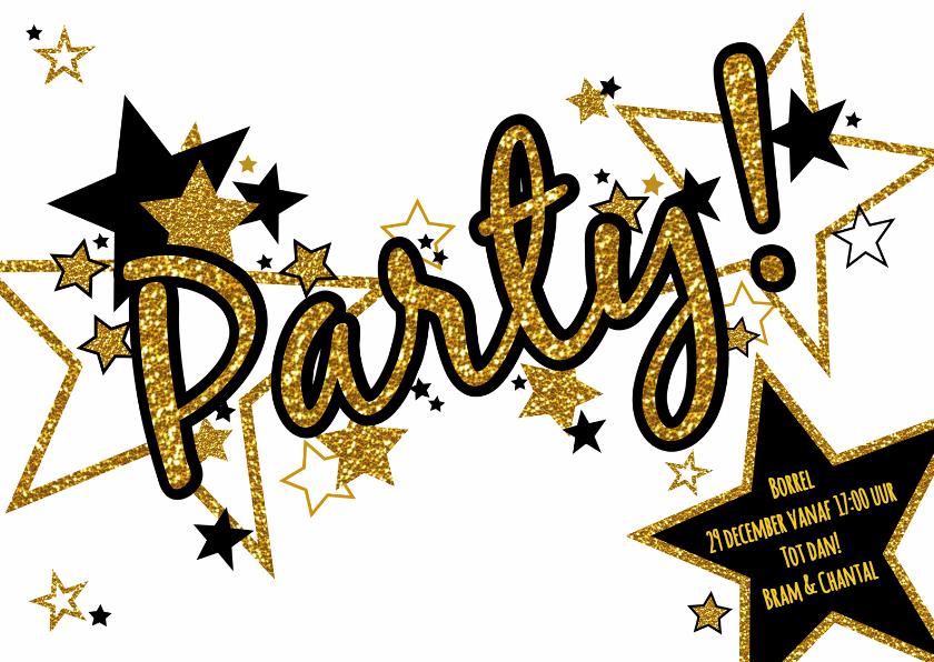 Uitnodigingen - Hippe uitnodiging PARTY!