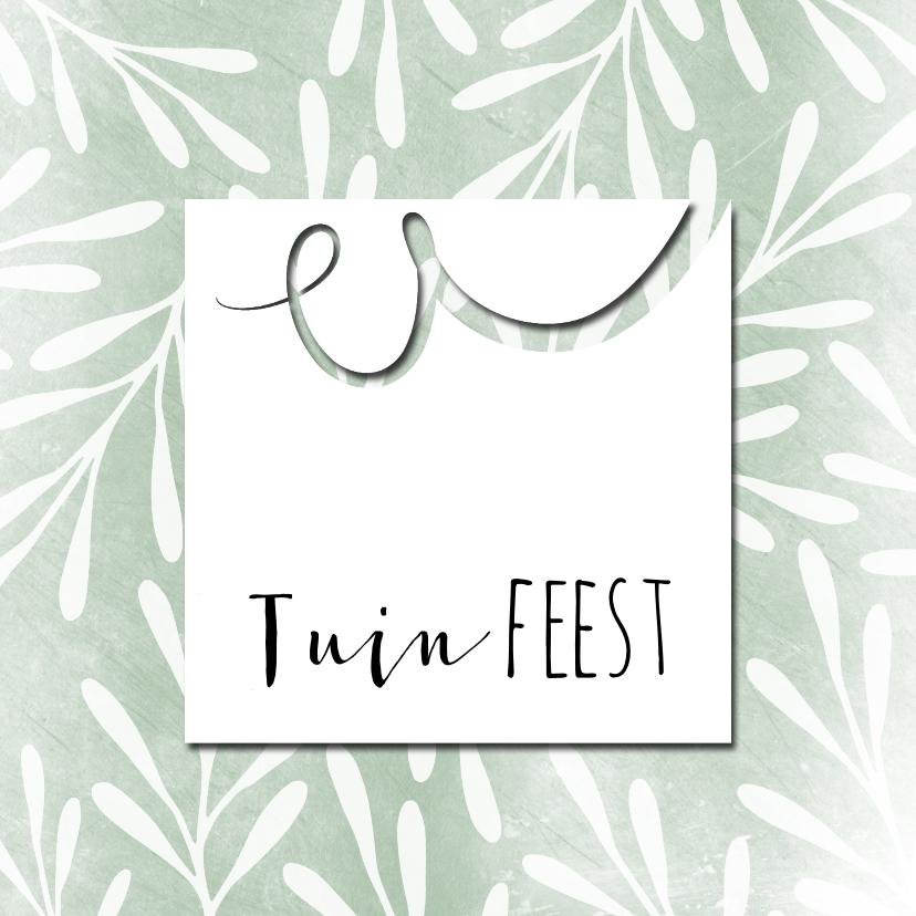 Uitnodigingen - Hippe uitnodiging voor tuinfeest