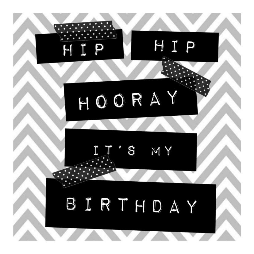 Uitnodigingen - Hippe uitnodiging voor verjaardag