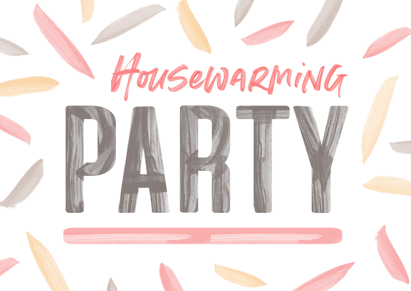 Uitnodigingen - Housewarming uitnodiging verfletters