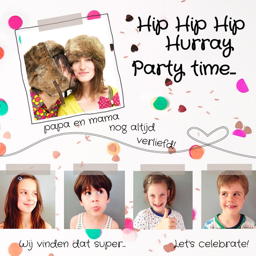 Uitnodigingen - Jubileumkaart gezin kinderen